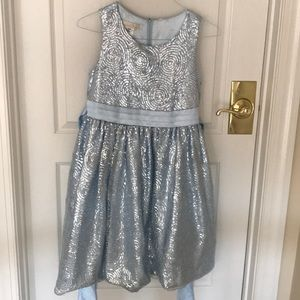 American princess blue dress sequins